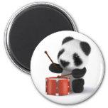 3d Baby Panda Drummer 2 Inch Round Magnet
