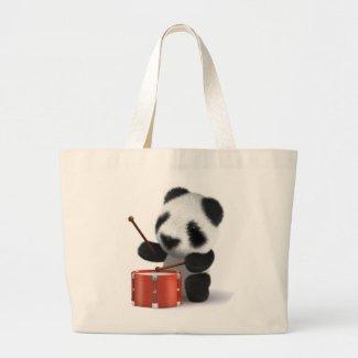 3d Baby Panda Drummer Bag