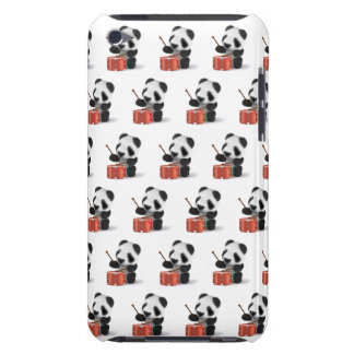 3d Baby Panda Drummer Barely There iPod Cover