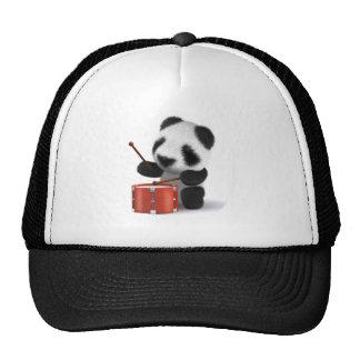 3d Baby Panda Drummer Trucker Hat