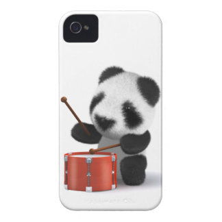 3d Baby Panda Drummer iPhone 4 Case