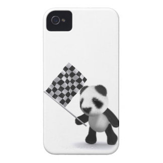 3d Baby Panda Finish Line iPhone 4 Case-Mate Cases