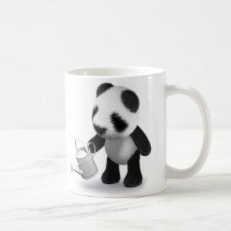 3d Baby Panda Gardening Classic White Coffee Mug