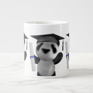 3d Baby Panda Graduate (editable) Large Coffee Mug