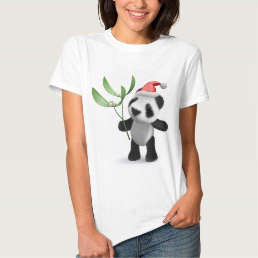 3d Baby Panda Mistletoe T Shirt