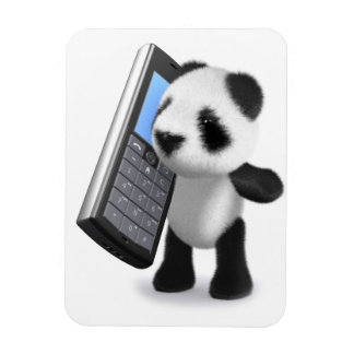 3d Baby Panda Mobile Phone Magnet