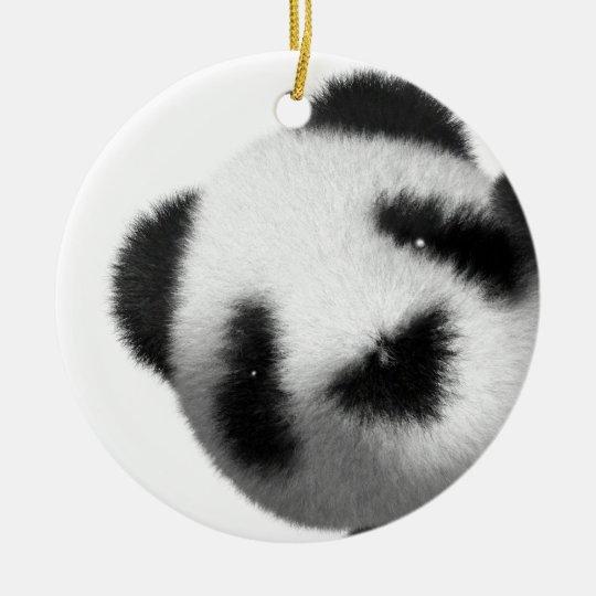3d Baby Panda Peeps Ceramic Ornament