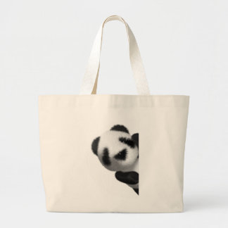 3d Baby Panda Peeps Large Tote Bag