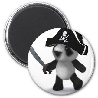 3d Baby Panda Pirate Magnet