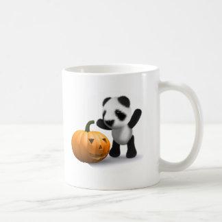 3d Baby Panda Pumpkin Coffee Mug