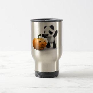 3d Baby Panda Pumpkin Travel Mug