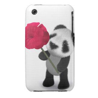 3d Baby Panda Rose iPhone 3 Case