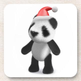 3d Baby Panda Santa Beverage Coaster