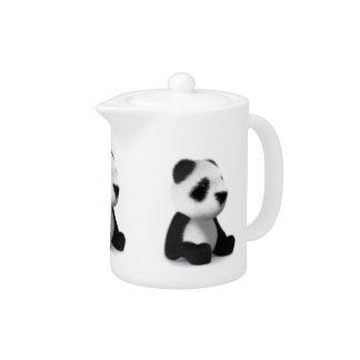 3d Baby Panda Sitting Teapot