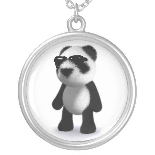 3d Baby Panda Sunglasses Necklace