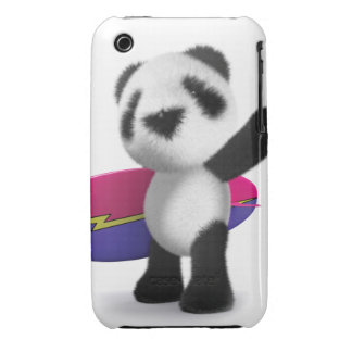 3d Baby Panda Surfboard Case-Mate iPhone 3 Cases