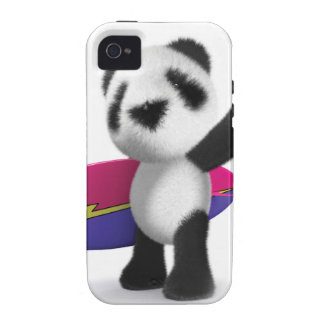3d Baby Panda Surfboard iPhone 4/4S Cases