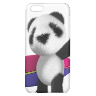 3d Baby Panda Surfboard iPhone 5C Cover