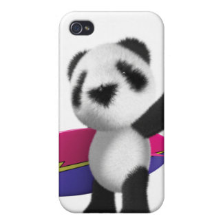 3d Baby Panda Surfboard iPhone 4/4S Covers