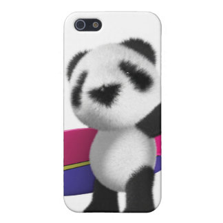 3d Baby Panda Surfboard iPhone 5 Cover