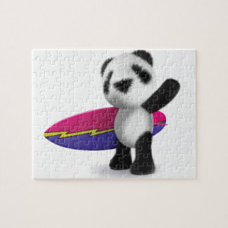 3d Baby Panda Surfboard Puzzles
