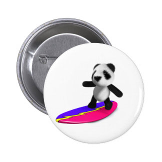 3d Baby Panda Surfing Buttons