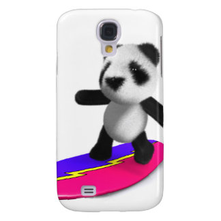 3d Baby Panda Surfing Galaxy S4 Cases