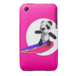 3d Baby Panda Surfing Case-Mate iPhone 3 Cases