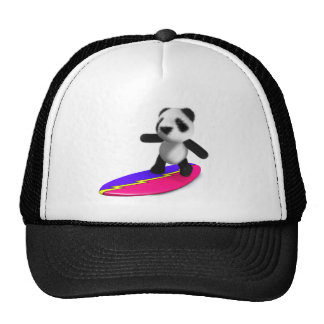 3d Baby Panda Surfing Hats