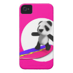 3d Baby Panda Surfing iPhone 4 Case-Mate Cases