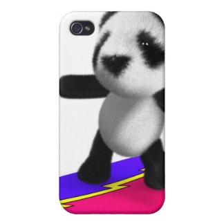 3d Baby Panda Surfing iPhone 4 Covers