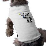 3d Baby Panda Tennis Dog Tee Shirt