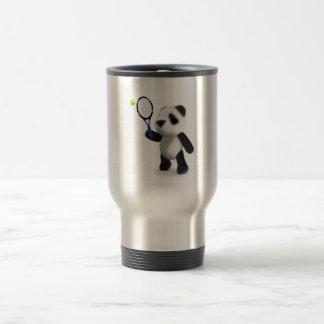 3d Baby Panda Tennis 15 Oz Stainless Steel Travel Mug
