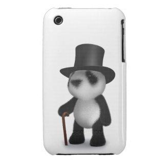 3d Baby Panda Top Hat Case-Mate iPhone 3 Case