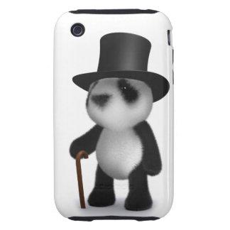 3d Baby Panda Top Hat Tough iPhone 3 Covers