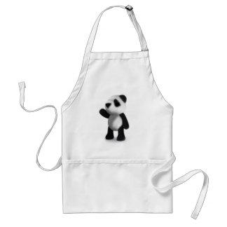 3d Baby Panda Wave Apron