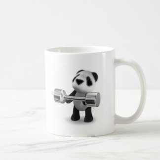3d Baby Panda Weightlifter Coffee Mug