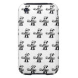 3d Baby Panda Weightlifter iPhone 3 Tough Covers