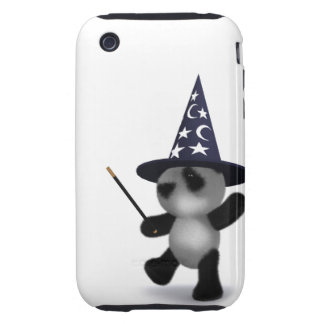 3d Baby Panda Wizard Tough iPhone 3 Cover