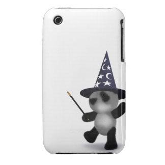 3d Baby Panda Wizard iPhone 3 Case