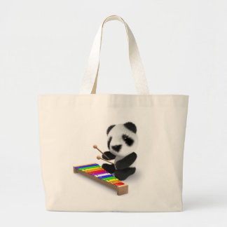 3d Baby Panda Xylophone Large Tote Bag