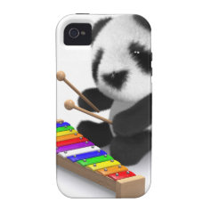 3d Baby Panda Xylophone Vibe iPhone 4 Cases