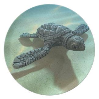 3d Baby Sea Turtle Dinner Plate