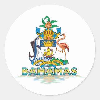 3D Bahamas Classic Round Sticker