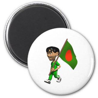 3D Bangladesh Imán Redondo 5 Cm