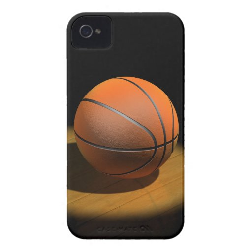 3d Basketball in Spotlight Case-Mate iPhone 4 Case