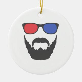 3D beard Ceramic Ornament