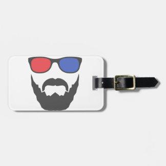 3D beard Travel Bag Tag