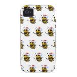 3d Bee Santa (Editable BG Color!) iPhone 4/4S Cover
