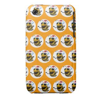 3d Bee Santa (Editable BG Color!) iPhone 3 Case